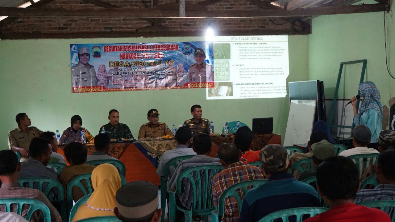 Perangi Narkoba, Desa Sidomulyo Gandeng BNN Beri Penyuluhan