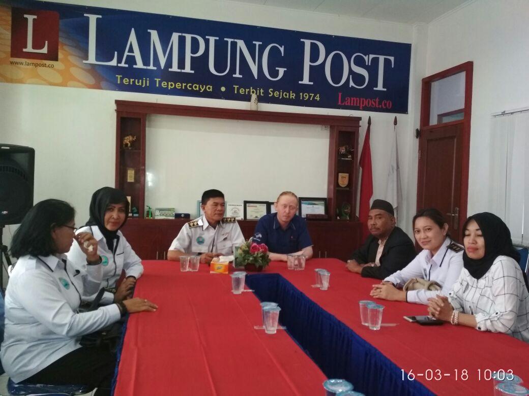 GAAN Sambangi Kantor Lampung Post