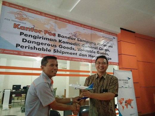 LAMPUNG POST | Garuda Indonesia-PT Pos Maksimalkan Potensi Kargo Lampung
