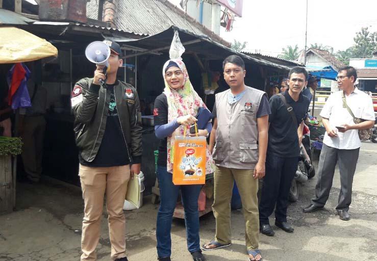 LAMPUNG POST   KPU Lampung Blusukan ke Pasar Sosialisasi Pilkada 2018
