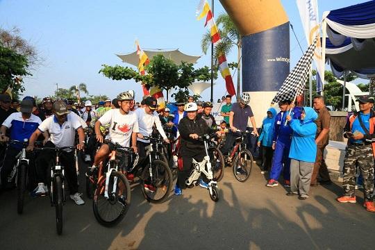 LAMPUNG POST | 200 Peserta Semarakkan Tourism Fun Bike Festival Rajabasa