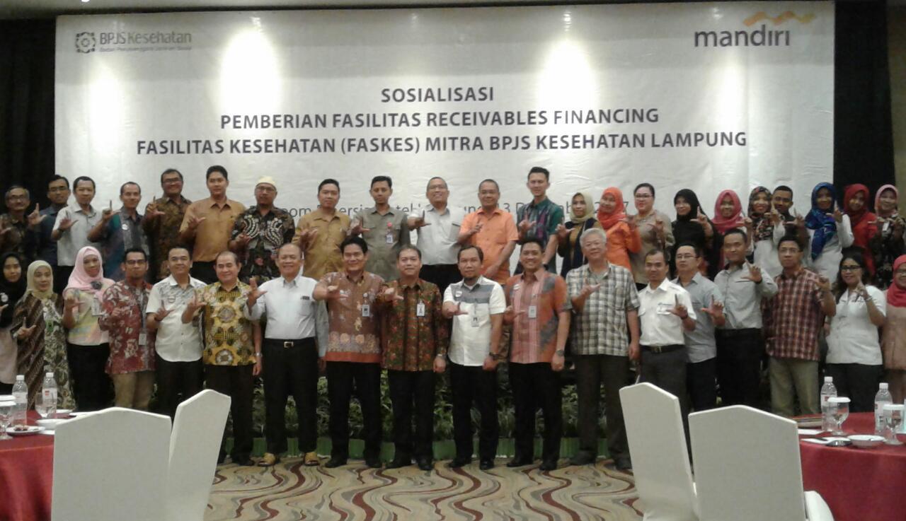 LAMPUNG POST | Bank Mandiri Biayai Mitra BPJS Kesehatan