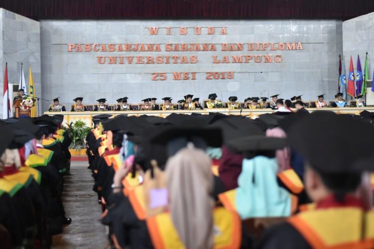 783 Mahasiswa Unila Ikuti Wisuda