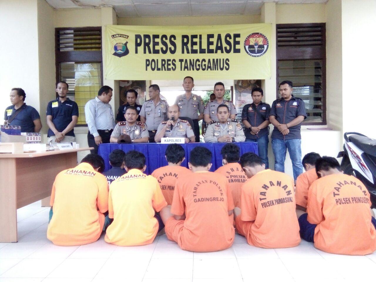 LAMPUNG POST | Polres Tanggamus Ungkap 20 Kasus Kriminal Selama Ops Sikat II 2017