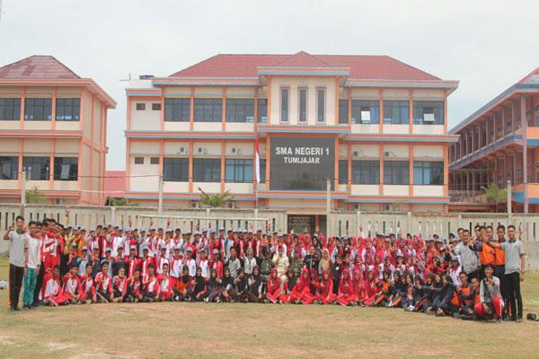 230 Anggota Paskibra Tubaba Ikuti Latihan Gabungan
