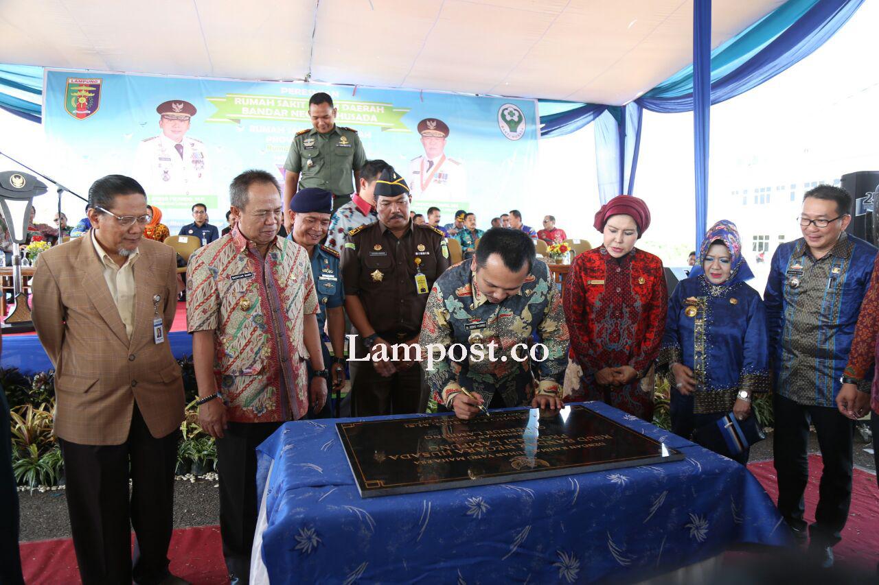 LAMPUNG POST | Gubernur Lampung Resmikan RSUD Bandar Negara Husada