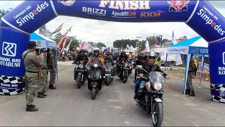 Ketua MACI Lampung Pimpin Rolling Thunder Keliling Tubaba