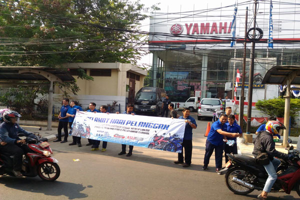 LAMPUNG POST   Hari Pelanggan Nasional, Yamaha Beri Kejutan