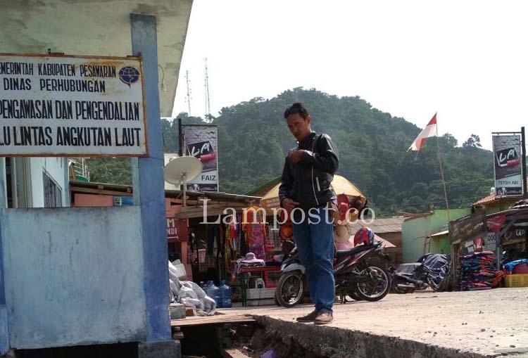 LAMPUNG POST | Sabtu-Minggu Pos Dishub di Dermaga Ketapang Tanpa Petugas