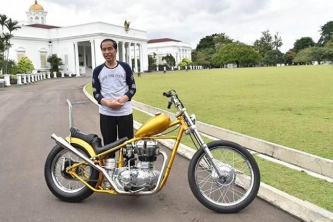 LAMPUNG POST | Mengenal Motor Chopperland Milik Jokowi, Asli Kreasi Anak Negeri