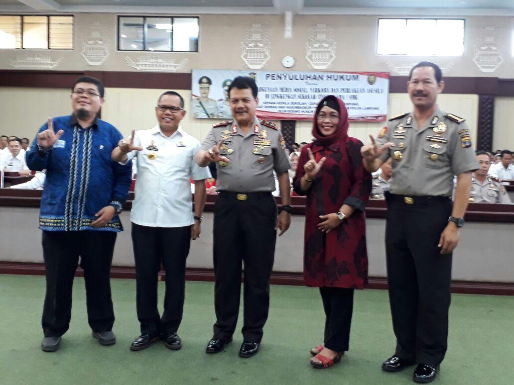 Polda Lampung Beri Penyuluhan 250 Kepala Sekolah