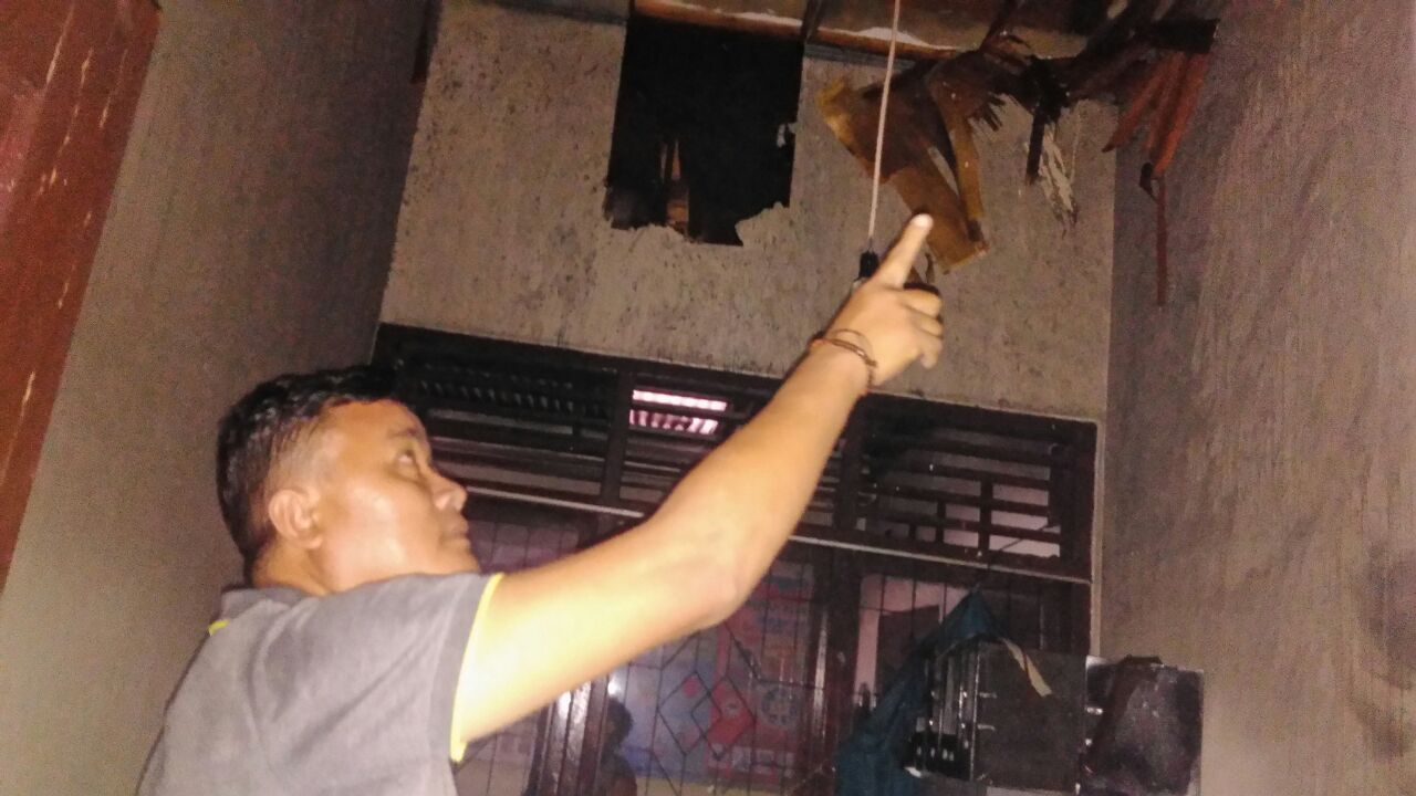 LAMPUNG POST | Kantor Kelurahan Hadimulyo Barat Terbakar