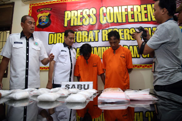 Polda Lampung Ungkap Peredaran Sabu yang Dikendalikan dari LP