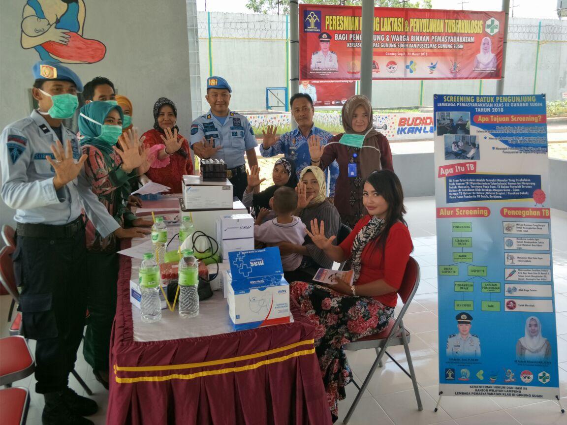 LAMPUNG POST   Lembaga Pemasyarakatan Gunung Sugih Gelar Screening Tuberkolosis
