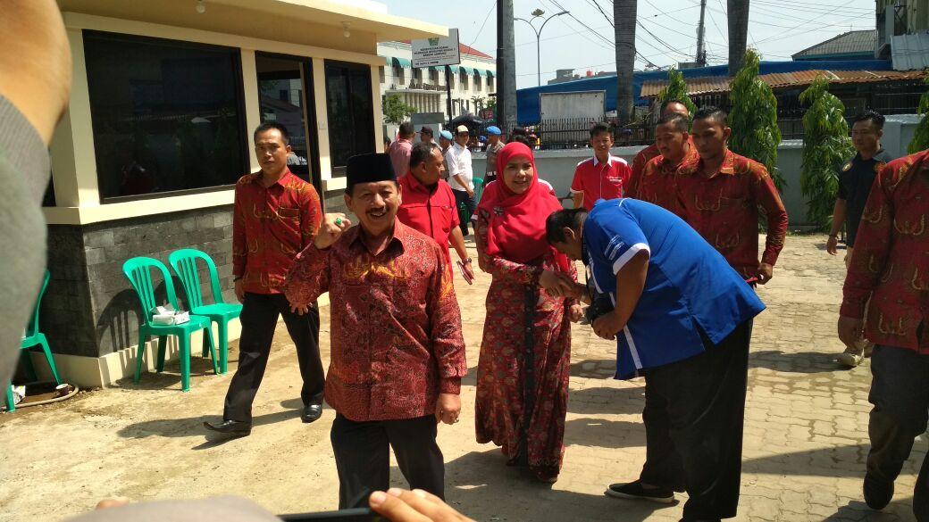 Penetapan Calon di KPU, Herman HN Datang Terpisah dengan Wakil