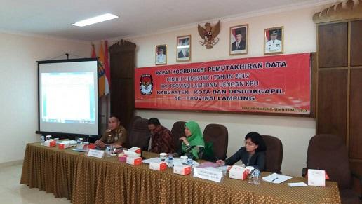 LAMPUNG POST | KPU Lampung Mantapkan Koordinasi Pemutakhiran Data