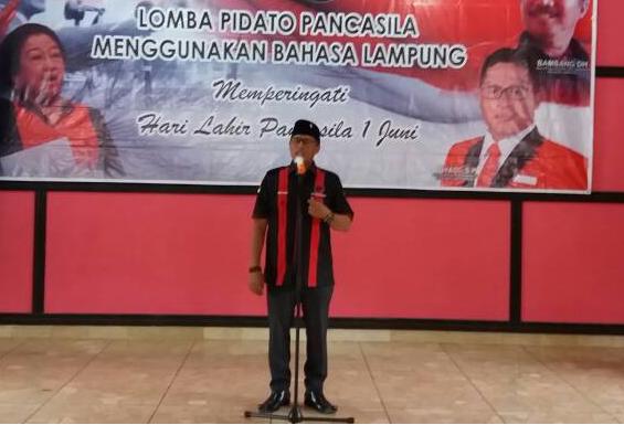 LAMPUNG POST | Lomba Pidato Pancasila Berbahasa Lampung Digelar