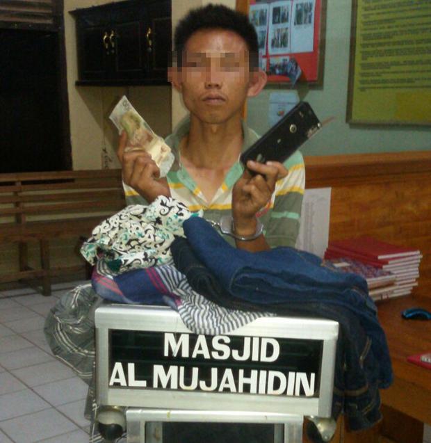 Curi Kotak Amal Masjid, Warga Balikbukit Ditangkap Polisi