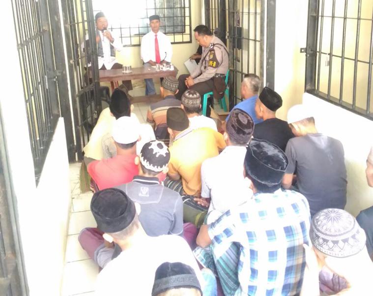 LAMPUNG POST   36 Tahanan Polres Pesawaran Diberi Bimbingan Rohani