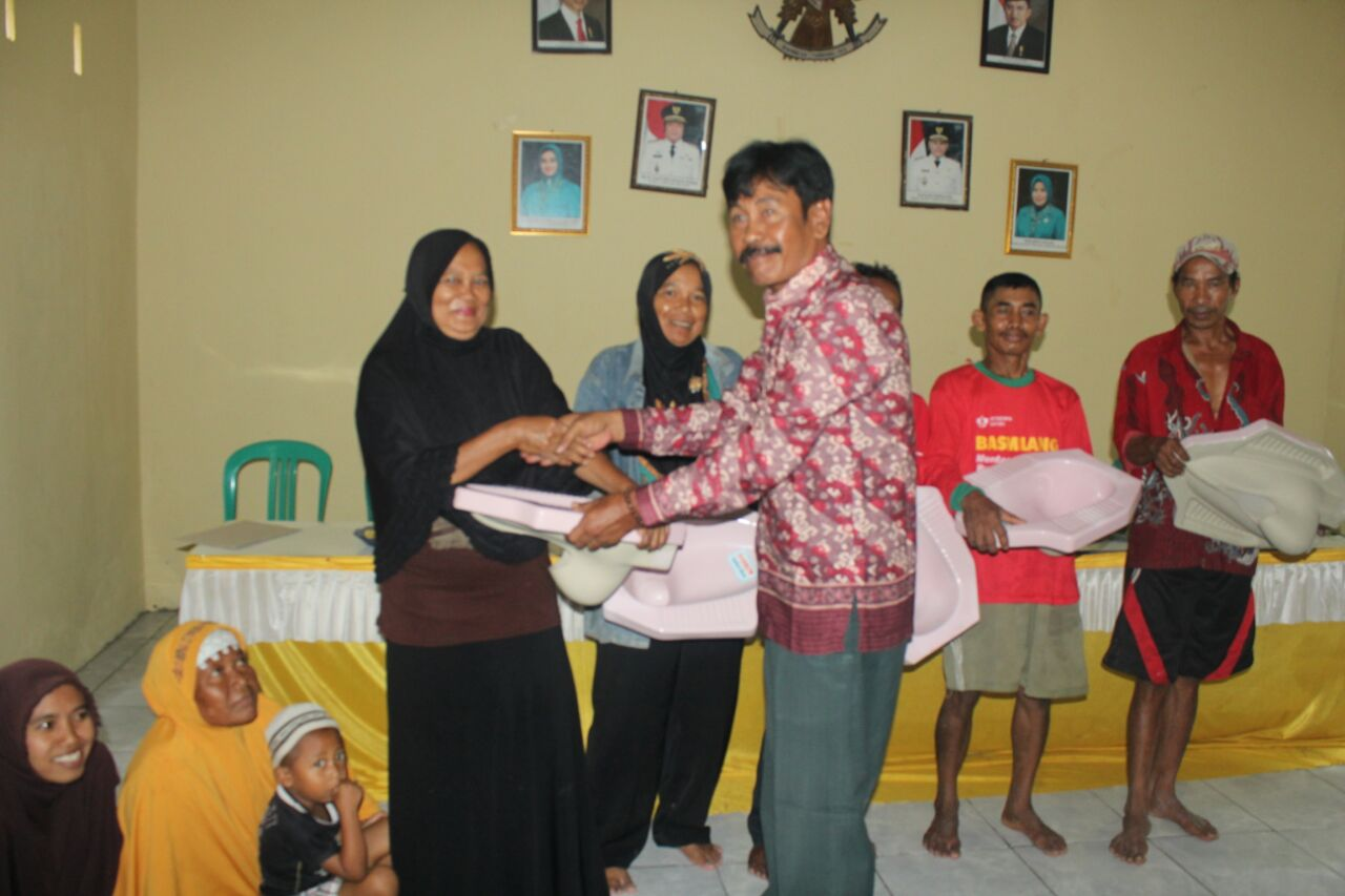 LAMPUNG POST   100 KK di Desa Tanjungsari Dapat Bantuan Stimulan Jamban Sehat
