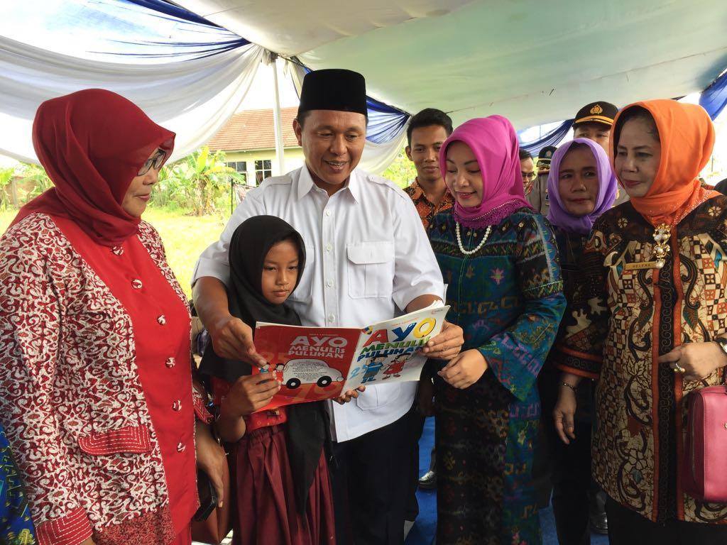 Wujudkan Lamteng Unggul dan Cerdas, Mustafa Bangun Perpustakaan Rakyat