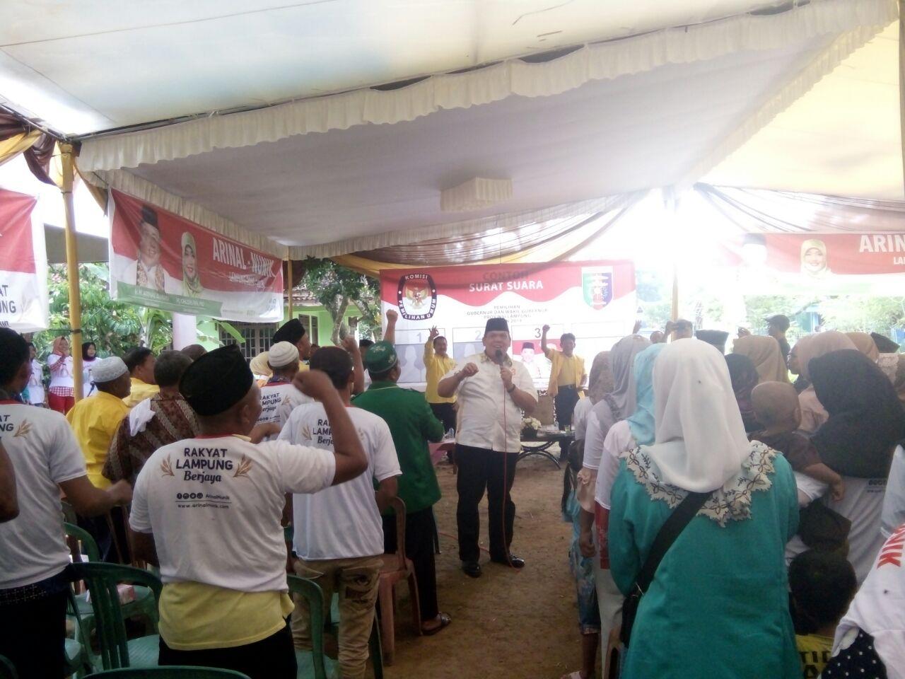 Warga Inginkan Arinal-Nunik Majukan Petani Lampung