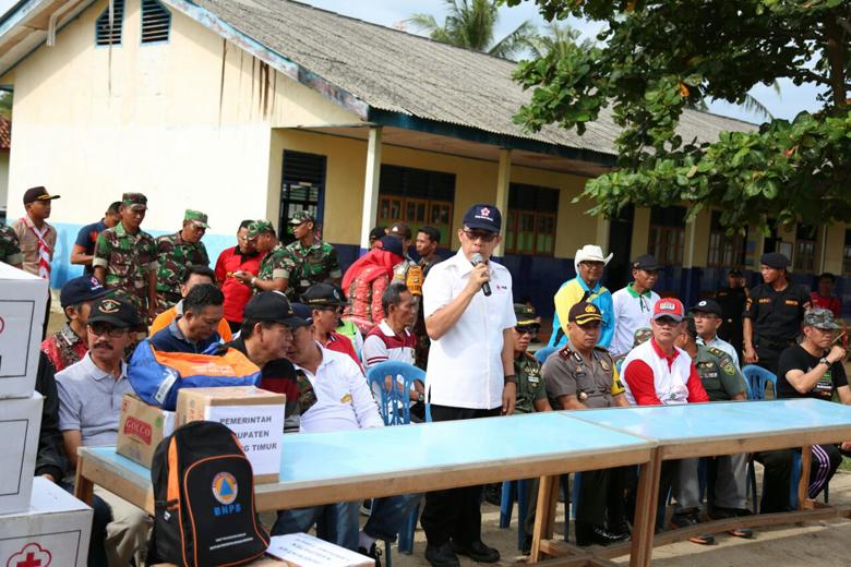 Gandeng TNI-Polri, Pemda Lamtim Tinjau Lokasi Banjir