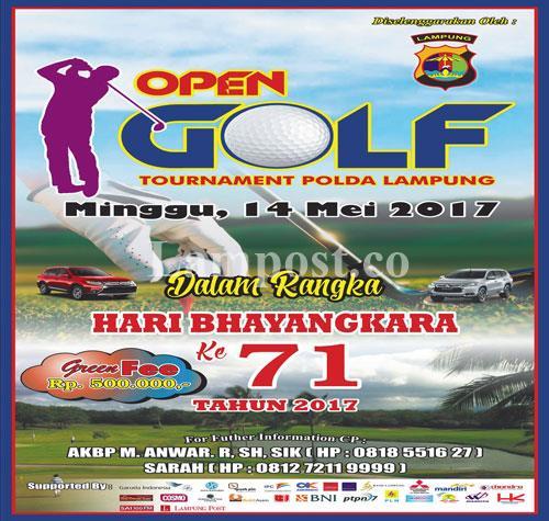 LAMPUNG POST | Sudjarno akan Buka Open Tournament Golf Polda Lampung