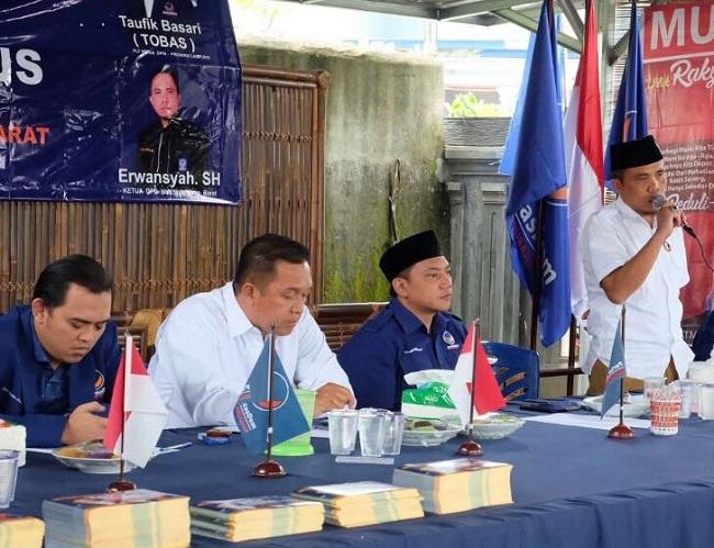 LAMPUNG POST | Mantan Cawabup Lambar Ulul Azmi Gabung Partai NasDem