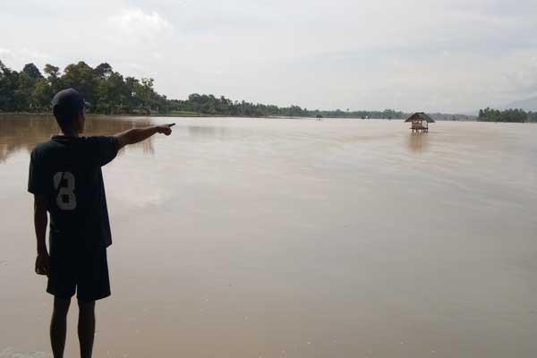 Banjir di Lampung Ganggu Belajar Siswa