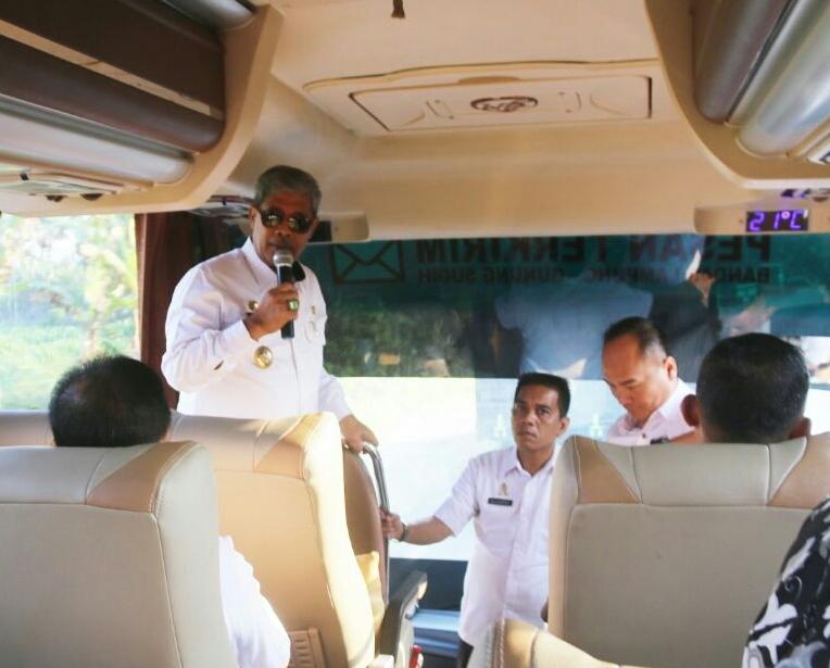 Pegawai Lamteng Difasilitasi Dua Bus Baru Siap Antar-Jemput