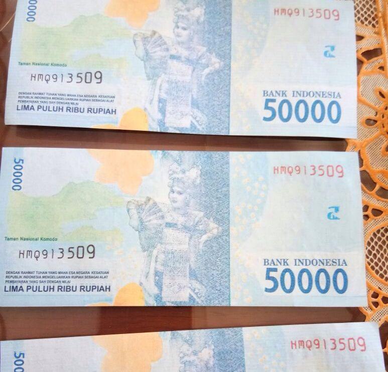 Uang Palsu Beredar di Tulangbawang, Pedagang Telur Jadi Korban