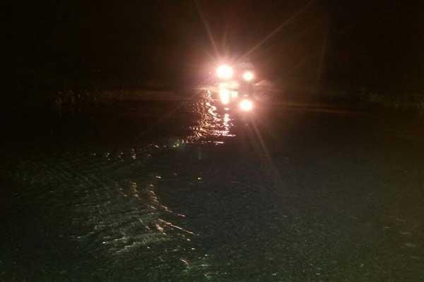 Banjir, Akses Menuju Bandarsurabaya Lampung Tengah Terancam Putus