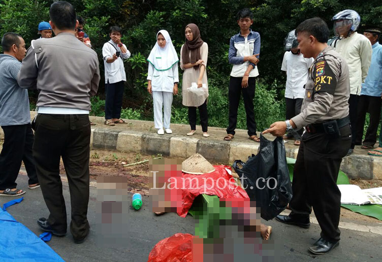 LAMPUNG POST | Pencari Rongsokan Tewas Terlindas Fuso di Jalintim Sukadana