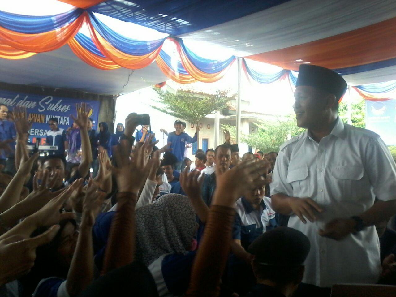 LAMPUNG POST   Relawan Agung-Mustafa di Lampung Utara Dideklarasikan