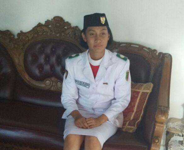 Paskibraka di Istana dari Lampung Utara Itu Hanya Disambut Keluarganya