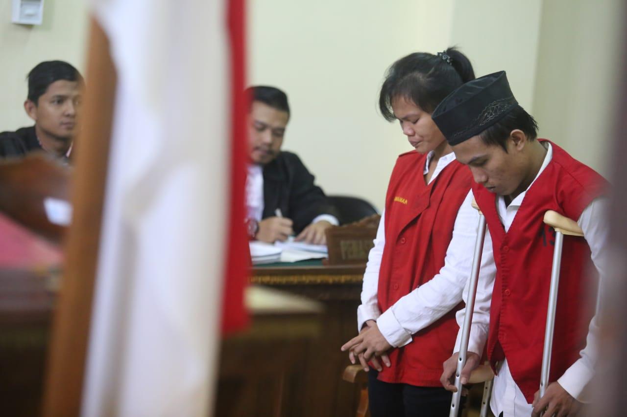 Pasutri Pembunuh Siswa SMP Divonis 20 Tahun dan 18 Tahun Penjara