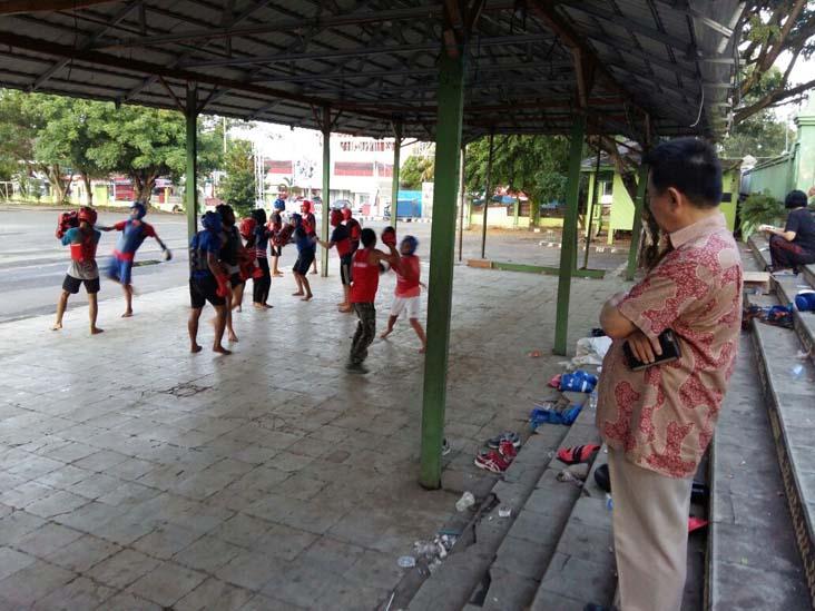 LAMPUNG POST | Pengprov Wushu Tinjau Training Center Atlet