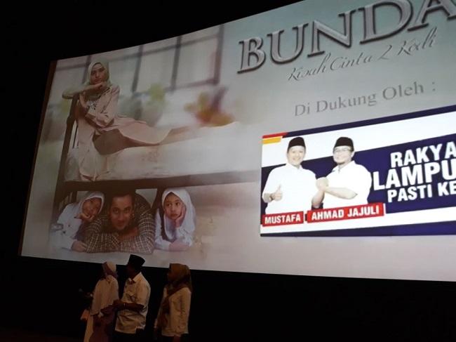 LAMPUNG POST | Simpatisan Mustafa-Aja Nobar Film Bunda