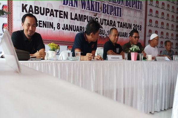 KPU Lampung Utara Gelar Simulasi Pendaftaran Calon Kepala Daerah