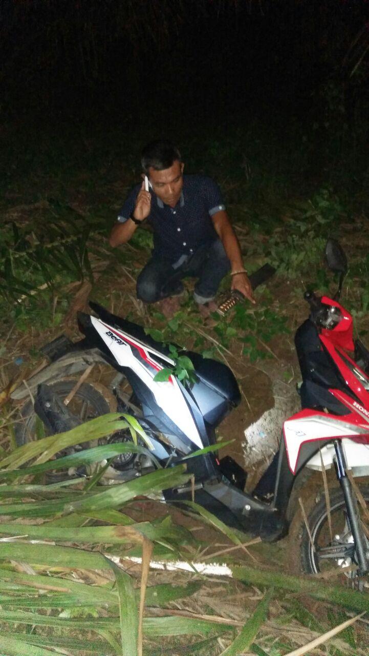 LAMPUNG POST | Motor yang Raib Ditemukan Warga di Kebun Sawit Desa Babatan