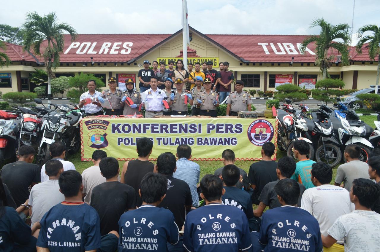 LAMPUNG POST | Polres Tulangbawang Ungkap 21 Kasus Selama Operasi Sikat III Krakatau 2017