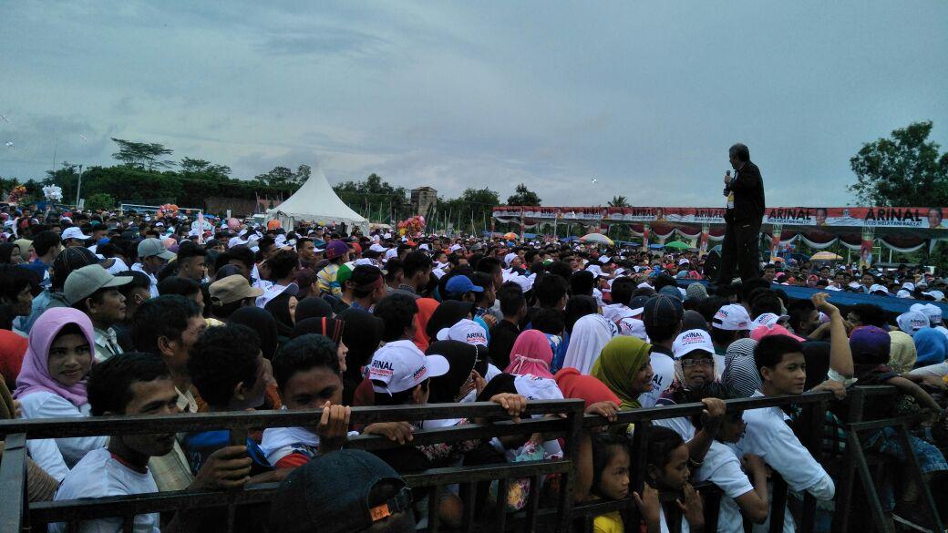 Arinal Gelar Jalan Sehat di Tulangbawang, Janjikan Harga Komoditas