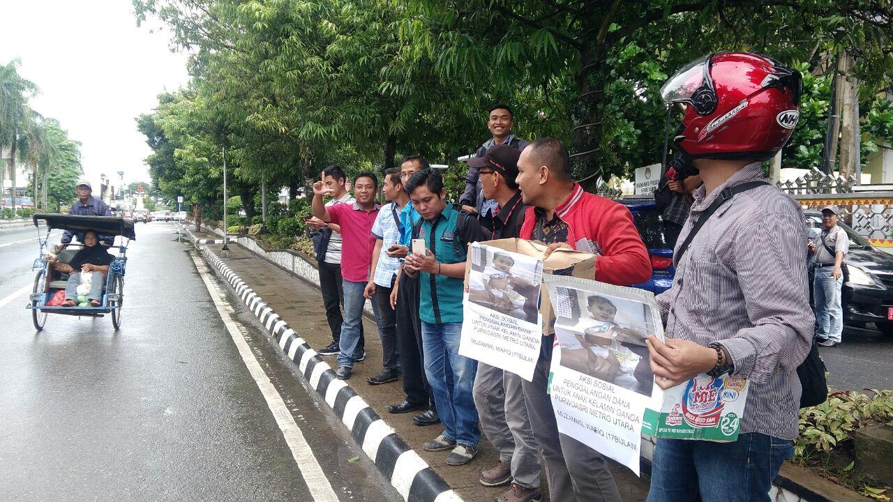 Jurnalis di Metro Galang Dana Buat Bayi Muzammil Wafiq