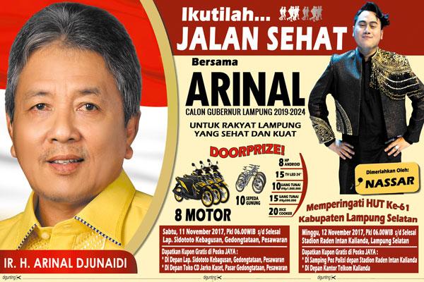 LAMPUNG POST | Arinal Djunaidi dan Zulkifli Hasan Hadiri Jalan Sehat