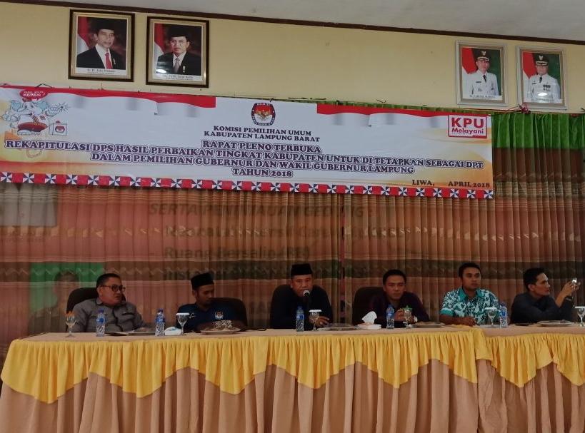 KPU Lambar Tetapkan DPT Pilgub Sebanyak 203.026 Mata Pilih