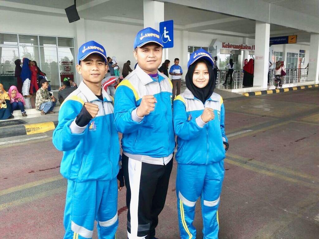 LAMPUNG POST | BKC Lampung Kirimkan Dua Karateka Terbaik ke O2SN di Medan