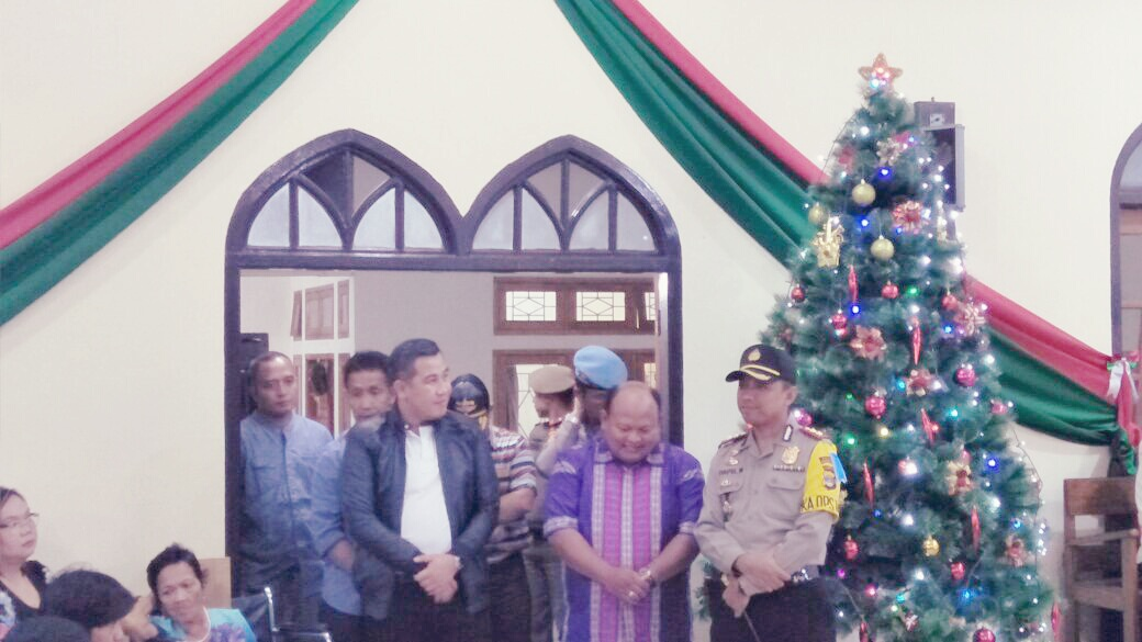 Bupati dan Kapolres Pesawaran  Tinjau Gereja Pastikan Pelaksanaan Natal Aman dan Kondusif