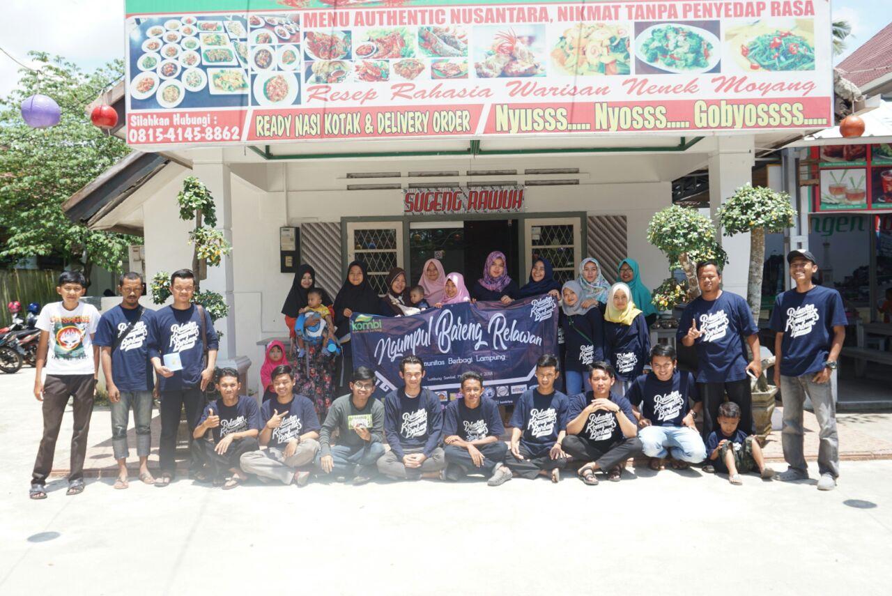 Kombi Lampung Perkuat Silaturahmi Sukarelawan