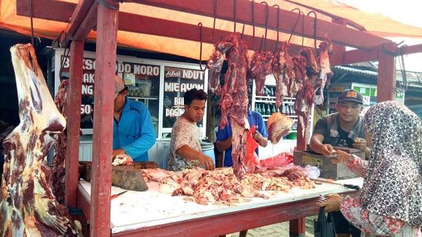 LAMPUNG POST | Daging Sapi di Sidomulyo Tembus Rp140.000 per Kg